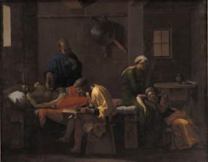 Nicolas Poussin, Le Testament d'Eudamidas, huile sur toile, 110 x 138 cm, Copenhague, Statens Museum for Kunst. Photo : Statens Museum for Kunst