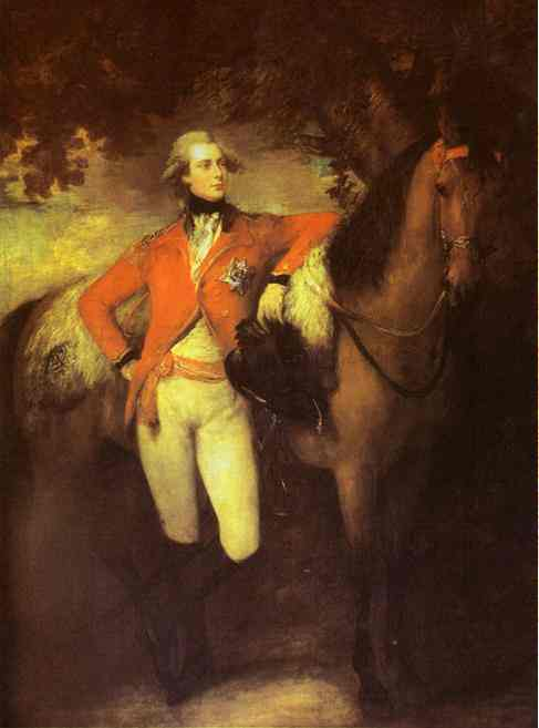 Thomas Gainsborough, portrait du Prince de Galles, futur George IV, huile sur toile, 250,1 x 186 cm, 1782. Waddesdon, The Rothschild Collection (The National Trust)