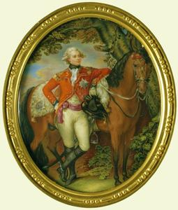J Jacob Miltenberg, Prince de Galle, futur Georges IV, miniature sur ivoire, ca 1782, The Royal Collection.