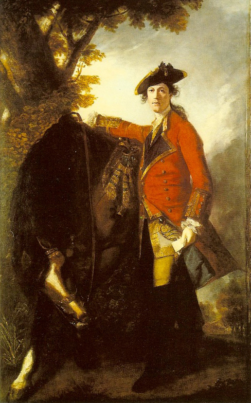 Joshuah Reynolds, Le Capitaine Robert Orme, huile sur toile, 240 x 147 cm, sd 1756, Londres, The Trustees of the National Gallery.