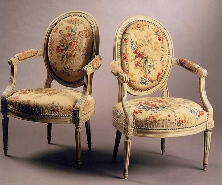 fauteuil medaillon epoque louis 16