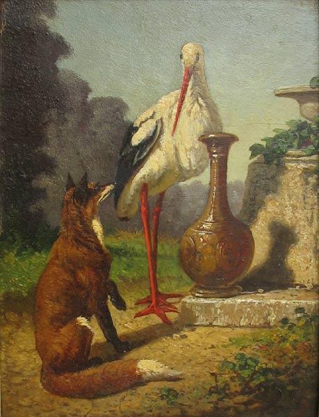 Olivier bauermeister cabinet d 39 expertise site exp rimental vincent de vos 1829 1875 le - Le renard et la cigogne dessin ...
