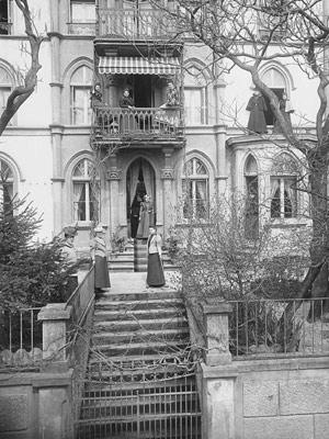 Le 17, rue du Vieux-Châtel, vers 1900, par Victor Attinger (1856-1927)