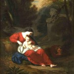 Achille Jacques Jean Marie DEVERIA (1800-1857) : le Repos de la Sainte Famille