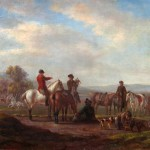 Jean HUBER (1721-1786), La Chasse au faucon