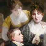 Ecole anglaise du début du XIXe siècle, La Lettre, huile sur toile, 60 x 40 cm (châssis), ca 1815.