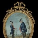 Emmanuel JENNER (1756-1813), sdbg, miniature « Le duc de Brounswick, gouverneur de Bois-le-Duc », aquarelle et rehauts de gouache sur papier vergé, 9,5 cm x 8 cm (vue), 1784.