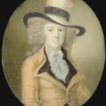 Richard COSWAY (1742-1821, attribué à), portrait de gentilhomme en miniature