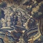 Tapisserie d'Aubusson : vue de village, laine, 200 cm (hauteur) x 300 cm (largeur), fin du XVIIe siècle.