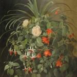 Ferdinand Georg WALDMÜLLER (1793-1865, école de), Bouquet de fleurs, huile sur toile, 60 x 52,5 cm (châssis), Allemagne, XIXe siècle.