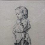 Eugène BOILLY (XIXe siècle), Le jeune garçon, crayon sur papier gris avec rehauts de gouache, 32 x 20 cm, troisième tiers du XIXe siècle.